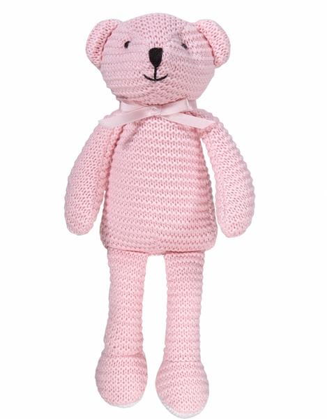 Bilde av Maximo strikket bjørn Rosa
